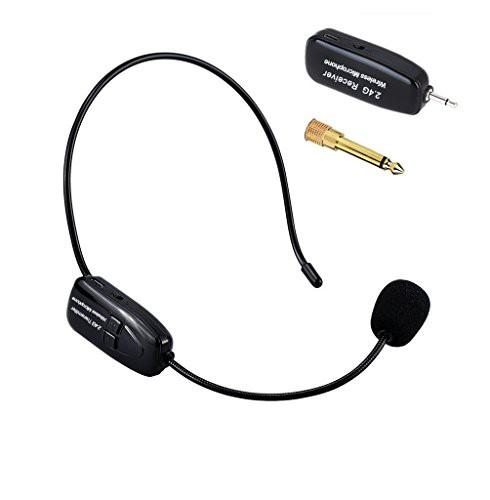Tmei 2.4G ワイヤレス マイク ヘッドセット ヘッドセットマイク ロフォン ステージ ポータブル拡声器 高音質 無線 軽量 3.5 mmステレオミ