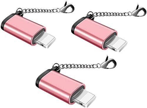 【改善版]Micro USB Lightning変換アダプタ マイクロ USB ライトニング変換アダプタ 充電と高速データ転送アルミニウム合金 紛失を防ぐ