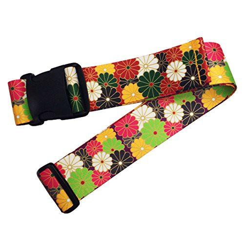 「配送無料」ウエストポイント 鞄帯 スーツケースベルト 和柄 紫菊 WPJ-106