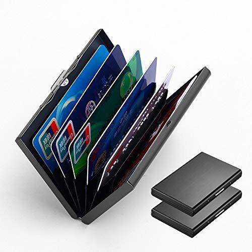 「配送無料」カードケース 2個 クレジットカードケース 名刺ケース 名刺入れ 名刺ファイル クレジットカードホルダー 財布ケース 6枚収
