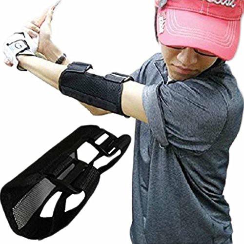 「配送無料」pcb ゴルフ 用品 練習 器具 基本 スイング 矯正 トレーナー 手打ち 防止 肘 サポーター ベルト 初心者