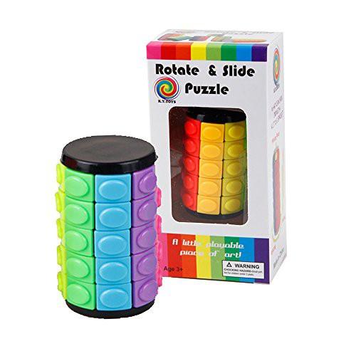 「配送無料」Baffle Puzzle - 回転&スライド3Dパズルおもちゃ - カラフル5層マジックタワーキューブ - クリエイティブIQゲーム、入門チ