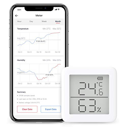 「配送無料」SwitchBot スイッチボット デジタル 温湿度計 スマート家電 ? 高精度 スイス製センサースマホで温度湿度管理 アラーム付き