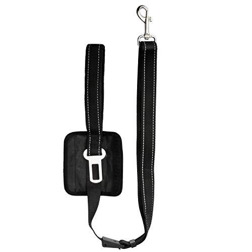 「配送無料」Yullmu 犬用リード シートベルト 両用 多機能リード 車用安全ベルト 簡単装着 ナイロン製 反射光 荷重40kg 長さ調節 120cm