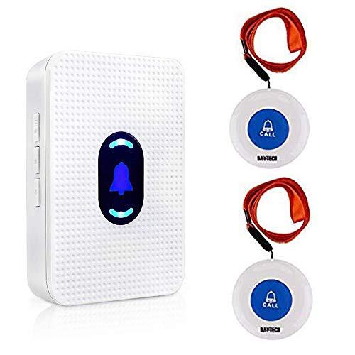 「配送無料」Daytech ワイヤレス 呼び出しベル 介護者 ページャ 警報 システムSOS コール ボタン 患者 高齢者 向け パーソナルホーム ア