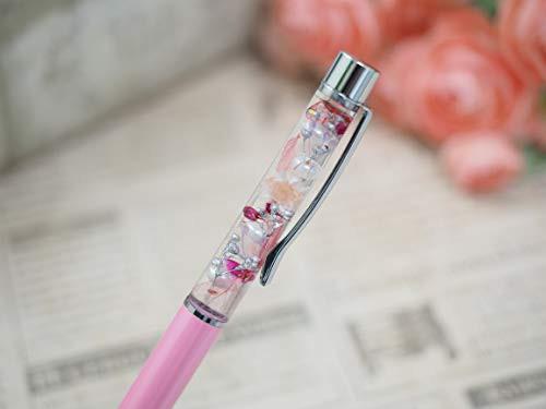 「配送無料」【ハーバリウムボールペン全11色クリアケース・替え芯1本セット】ピンクライトピンク