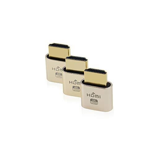 「配送無料」シウィ SWEE 3パック HDMIバーチャル・ディスプレイ HDMI エミュレータ HDMIダミープラグ DDC EDIDエミュレーター 高解像度
