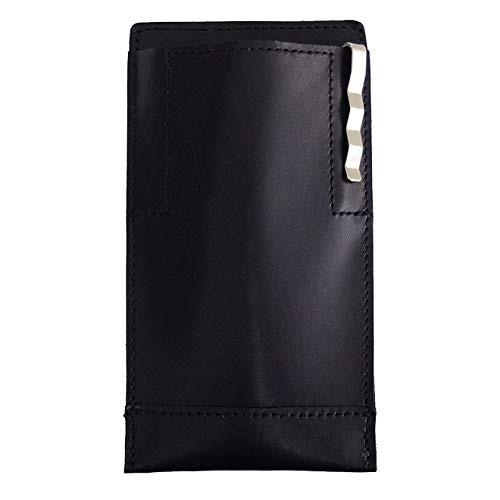「配送無料」名刺入れ付き胸ポケットビジネスペンケース (ブラック)