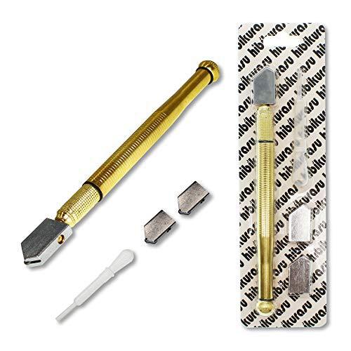 「配送無料」hibikurasu ガラスカッター オイル補充 ローラータイプ 替刃 スポイド セット ガラス 切断 工具