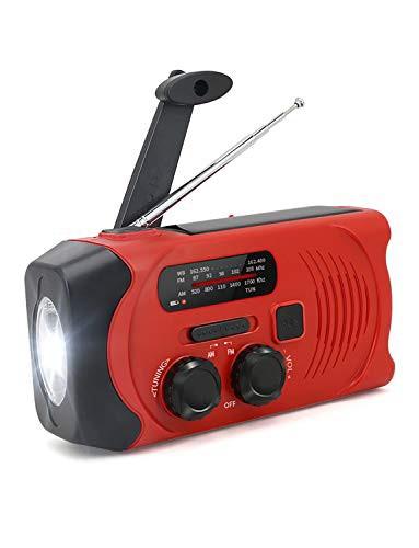 「配送無料」防災ラジオ 手回しラジオ 緊急用 AM/FM対応 2000mAh ソーラー充電 USB充電 多機能 ラジオライト 小型 軽量 震災 津波 台風