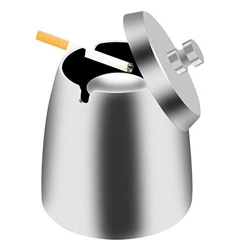 「配送無料」LATTCURE 灰皿 ふた付き 大容量 ステンレス 滑り止め 加厚材? 密閉 防風 防臭 大サイズ 【令和最新版】