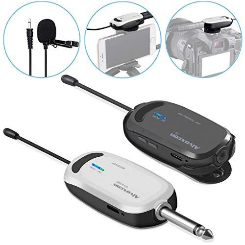 「配送無料」Alvoxcon ワイヤレスマイク ヘッドセット ピンマイク ワイヤレス UHF クリップマイク 無線マイク 動画撮影 録音 拡声器 カメ