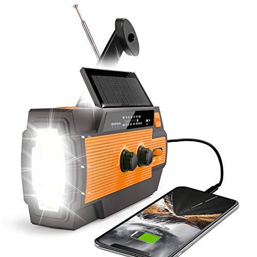 「配送無料」Runningsnail【2020年最新版】多機能防災ラジオ 防災懐中電灯ラジオ 手回しソーラー緊急ラジオ AM/FM対応携帯式ラジオ 非常