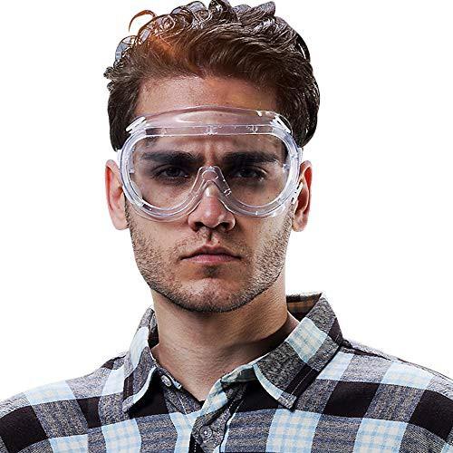 「配送無料」Candybay ゴーグル 防曇ゴーグル プロテクトゴーグル 密閉型 防塵 メガネ 眼鏡着用可 眼鏡 耐衝撃性 防塵メガネ 調節可能 曇