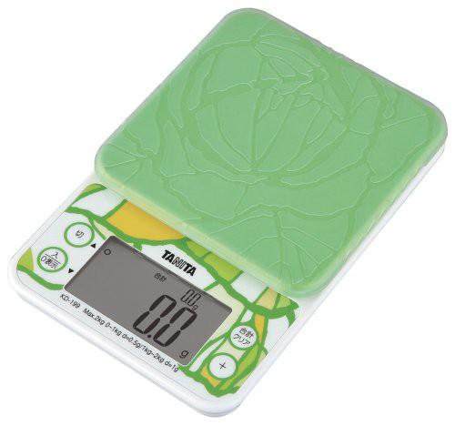 タニタ キッチンスケール はかり 料理 2kg 0.5g単位 グリーン KD-199 GR 野菜の目標量・使用量 がわかる