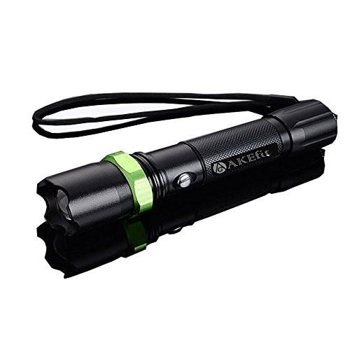 「AKEfit」懐中電灯  自転車ライト 自転車用 アウトドア ハンディライト LEDライト  小型 超高輝度 強力 ズーム式 軽量 電池付