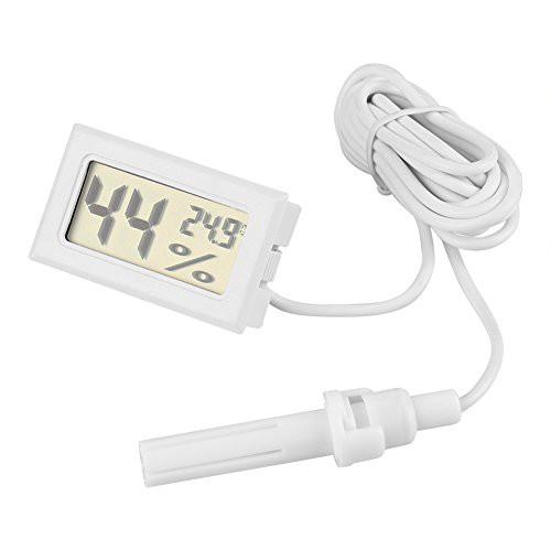 Acouto [温度計湿度計] LCDデジタル温度計湿度計 外部プローブ付き 爬虫類用 ペット飼育 両生類の爬虫類 長時間使用でき 精度を保証
