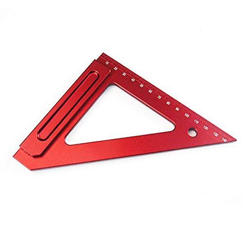 CarAngels 木工三角定規 ケガキゲージ スライディングスコヤ 直角定規 大工の測定およびマーキング用 直角・45度ケガキ工具 アルミ製 (目