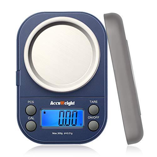 Accuweight デジタル 計量器 携帯タイプはかり 電子はかり 電子秤 精密デジタルはかり 0.01g単位 300g 業務用 電子天秤 計測AW255 300g