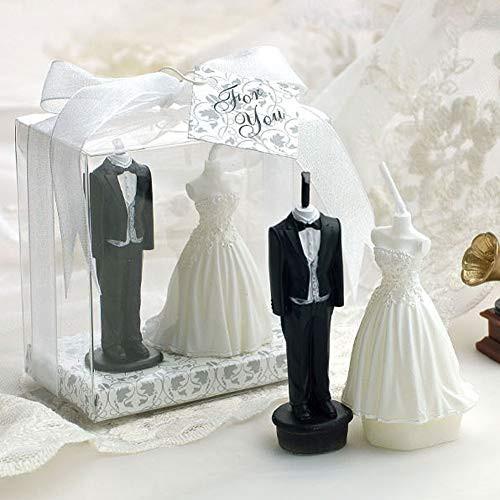 結婚式キャンドル 蝋燭 ケーキ用 無煙 誕生日の蝋燭 素敵なペア、永遠の絆 新郎新婦セット