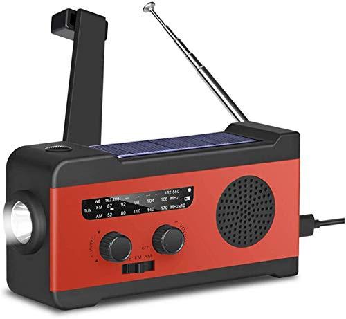 防災ラジオ 防災グッズ 大容量2000mA防災ソーラーラジオ SOSアラート 手回しラジオ AM/FM携帯ラジオ ラジオライト USB手回し発電 ソーラ
