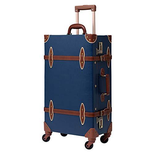 【送料無料】Urecity トランクケース キャリーバッグ 革 手作り 復古主義 レトロ おしゃれ かわいい フレームタイプのスーツケース 超軽