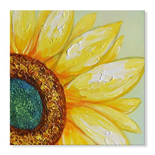 【送料無料】7CANVAS 壁掛け絵 モダン 黄色ひまわりが咲く 花 立体 手書きモダン油絵 複製画