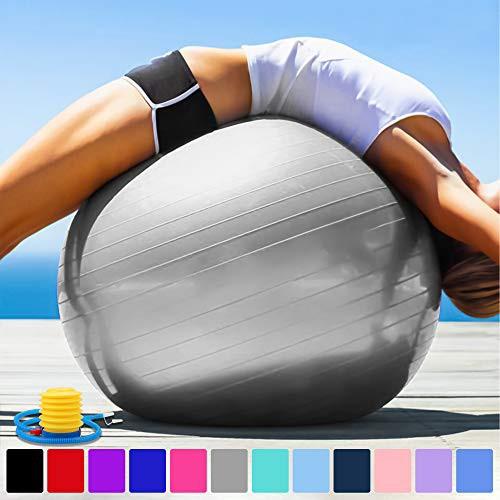 【送料無料】Arteesol バランスボール 分厚い 直径45cm/55cm/65cm/75cm 滑り止め 爆裂防ぎのヨガボール 足踏みタイプのポンプ付き 日本語