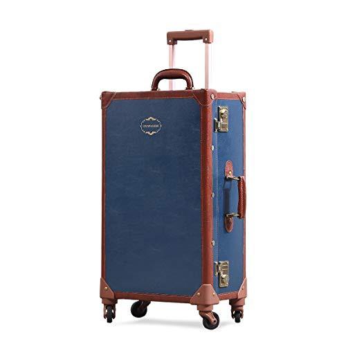 【送料無料】Uniwalker キャリーケース かわいい トランクケース TSAロック搭載 レトロ 四輪 360度回転 軽量 復古主義 キャリーバッグ 可
