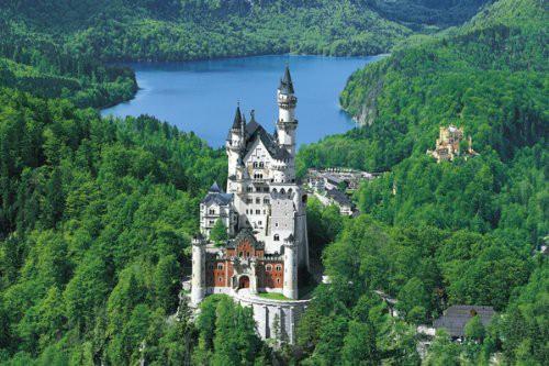送料無料1500ピース ジグソーパズル パズルの達人 達人検定 世界風景 新緑とノイシュバンシュタイン城 スモールピース(50x75cm)