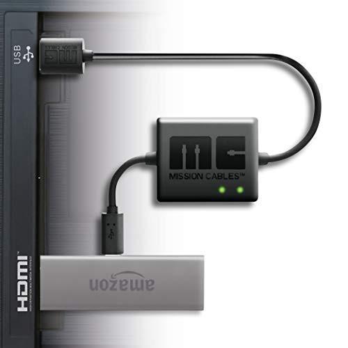 送料無料【最新版 Amazon Fire TV Stick専用】 Mission cables テレビ USBポートから AC電源を使用せず利用可能 テレビ TV 配線を美しく