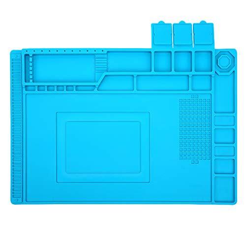 送料無料E?Durable 作業マット デスク修理マット 耐熱パッド 絶縁パッド 卓上作業 はんだ 耐熱 溶接用 500*高温熱風に耐える 無毒 静電
