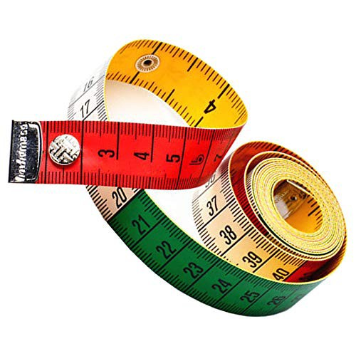 送料無料??卷尺 ??柔?的卷尺 家用?量卷尺 メジャー 裁縫用 自在曲線定規 胸囲 布 巻き尺 スナップ付き 両面目盛 可愛い 携帯便利 (