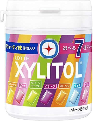 【新品】ロッテ キシリトールガム 7種アソートボトル 143g6個入