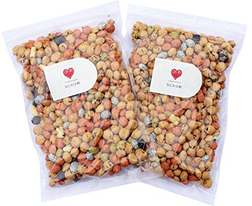【新品】なにわ小町 豆菓子 おつまみ たっぷり420g入り2袋セット 大容量 業務用 ピーナッツ 落花生