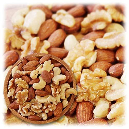 【新品】ミックスナッツ 3種類 1kg 徳用 生くるみ 40% アーモンド 40% カシューナッツ 20% 素焼き オイル不使用 無塩 無添加 【輸入1ヶ月