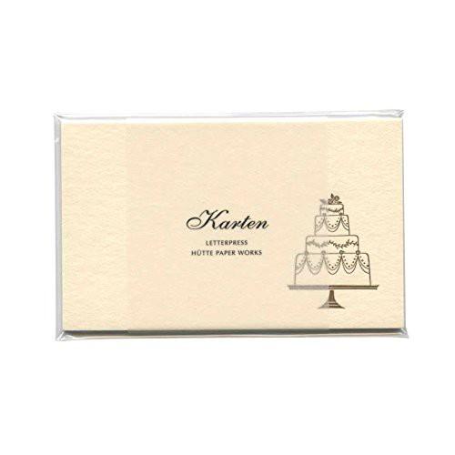 送料無料凸版印刷ミニメッセージカード HP/MMCー009【ウェディングケーキ/WEDDING CAKE】