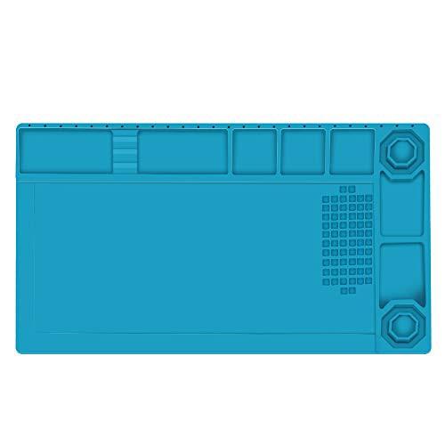 送料無料E?Durable 作業マット 卓上作業マット シリコン製 38cm*21cm 500*高温熱風に耐える 無毒 静電気防止 断熱パッド 作業用マット
