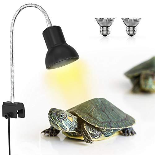 送料無料Dadypet 爬虫類 ライト ランプ 両生類ヒーター クリップスタンド 亀 爬虫類用 バスキングライト 保温電球 UVA*UABライト 紫外線