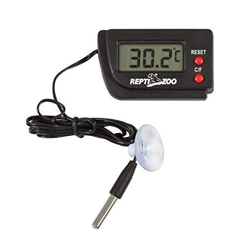 送料無料温度計・湿度計 REPTI ZOO デジタル温湿度計 爬虫類用 高感度 ペット飼育 魚飼育用 爬虫類・両生類・水族箱・テラリウム用 (温度