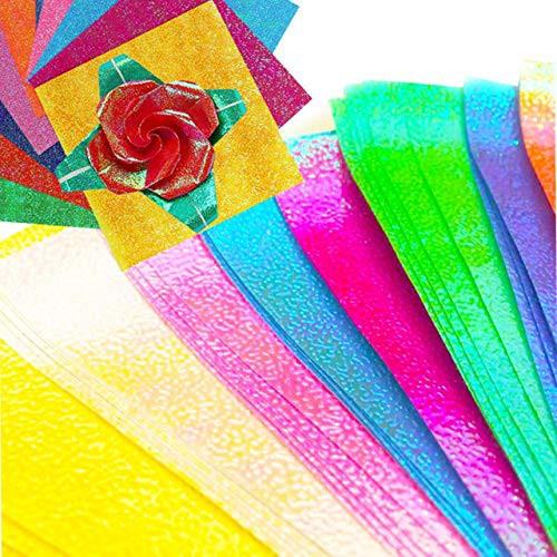 送料無料Copeflap キラキラ 折り紙 大きいサイズ おりがみ 大きい折り紙 大きい 大判 25cm 50枚 100枚 (マルチカラー 100枚)