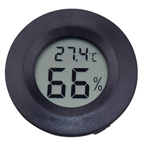 送料無料ledmomo LCD デジタル湿度計 1個セット円形 アクリル 爬虫類 ペット温度計 高温 低温 高精度 デジタル 爬虫類テラリウム