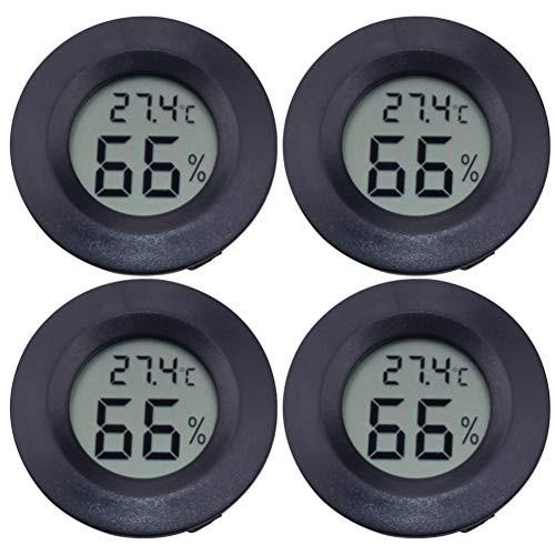 送料無料ledmomo LCD デジタル湿度計 4個セット円形 アクリル 爬虫類 ペット温度計 高温 低温 高精度 デジタル 爬虫類テラリウム