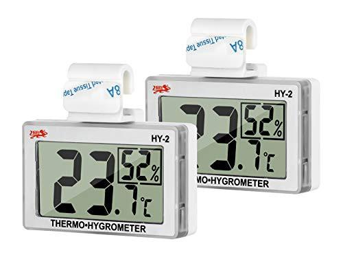 送料無料GXSTWU 温度計 爬虫類 湿度計 デジタル HD液晶 ベルクロ フック付き 温湿度計 爬虫類タンク テラリウム 飼育室 ビバリウム用 (二