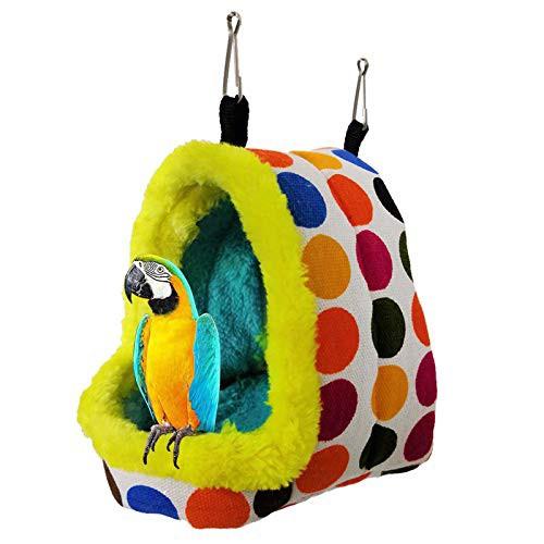 送料無料Hakona 鳥たちの寝床 三角ハウス 吊りベッド インコ おもちゃ 文鳥用 ハウス 鳥用品 小動物 ハウス 冬 ペット ハンモック 厚み