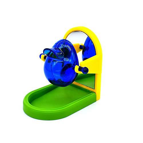送料無料Sekusii オウム 餌入れ 小鳥トレーニングおやつおもちゃ ペットおもちゃ おやつ玩具 知育フォージング 知育訓練おもちゃ 鏡玩具