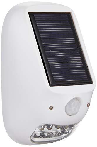 【送料無料】ヤザワ 屋外用ソーラー式LEDセンサーライト 防雨型 乾電池式 ソーラーパネル付 配線不要 明暗 人感センサー付 NL57WH