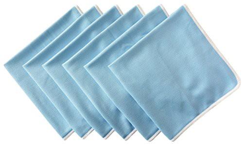 【送料無料】SINLAND 速乾 マイクロ ファイバー ガラス グラス 拭き クロス キッチン 食器 拭き クリーニング タオル 6枚 (30cmx40cm ブ