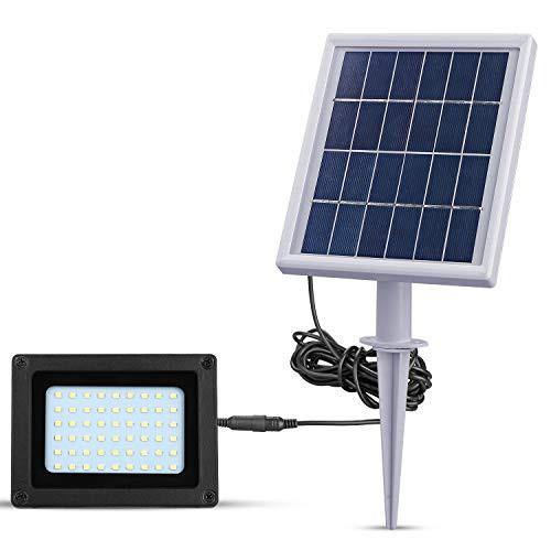 【送料無料】ソーラー led 投光器スイッチをオフにしての 屋外3W 400LM外灯6500K 4000mAバッテリー 太陽光発電常夜灯を与えられた導かれ