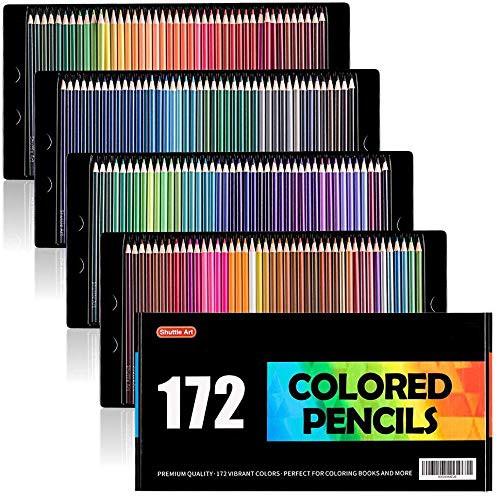 【送料無料】Shuttle Art 色鉛筆 カラーペン 172色セット 大人の塗り絵 スケッチ イラスト 落書き 手帳 ノード子供用 プレゼント 入園・